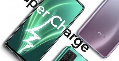 Honor 10X Lite tukee akun pikalatausta 22,5 watin teholla.