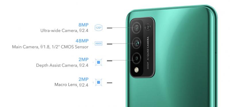 Honor 10X Liten neljä takakameraa.