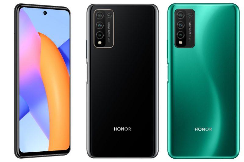 Honor 10X Liten musta ja vihreä värivaihtoehto.