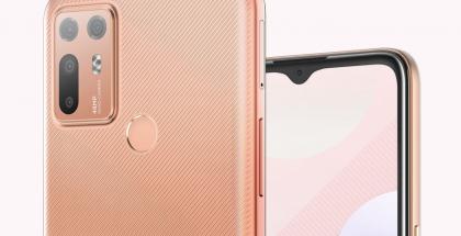 HTC Desire 20+:ssa on neljä takakameraa.