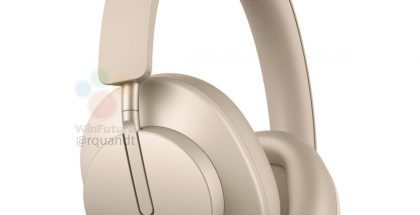 Huawei FreeBuds Studio, Blush Gold -värissä. Kuva: WinFuture.de.