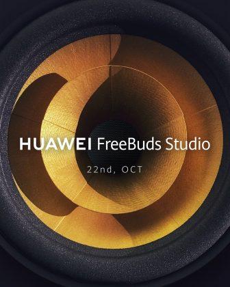 Huawei on vahvistanut FreeBuds Studio -kuulokkeiden julkistuksen 22. lokakuuta.