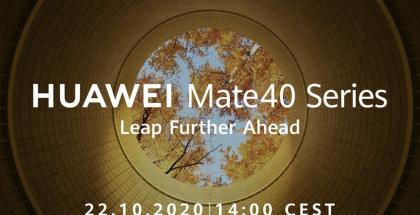 Huawei Mate 40 -sarjan julkistus on ohjelmassa 22. lokakuuta.