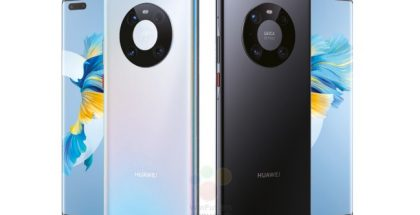 Huawei Mate 40 Pro kahdessa eri värissä. Kuva: WinFuture.de / Roland Quandt.