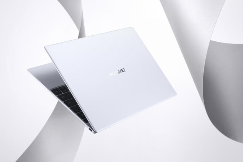 Huawei MateBook X, huurteisen hopea Silver Frost.