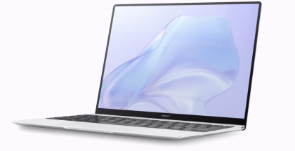 Huawei MateBook X:ssä on ohuet näyttöreunukset.