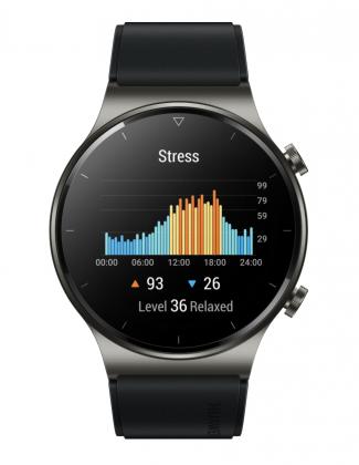 Huawei Watch GT 2 Pro sisältää myös stressitason seurannan.