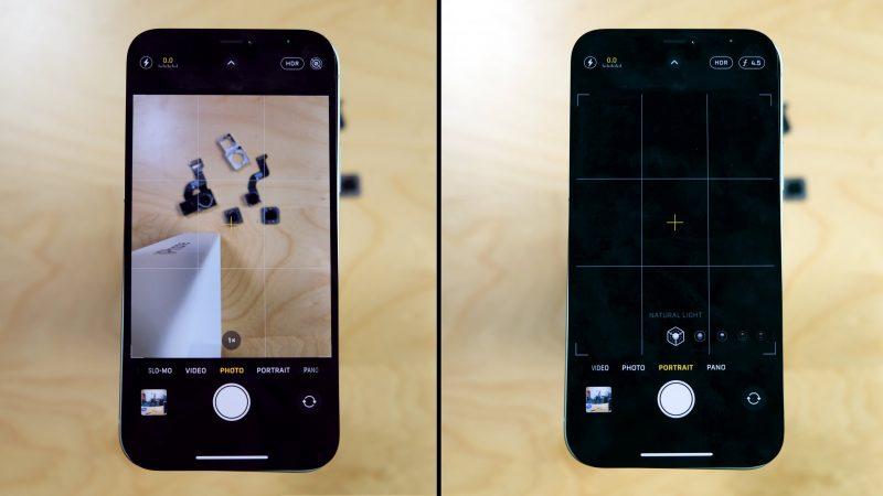 """iFixit havaitsi iPhone 12:n """"hylkivän"""" vaihdettua kameramoduulia."""