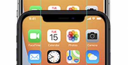 Todennäköisesti iPhone 12 mini sisältää suhteessa kapeamman loven.