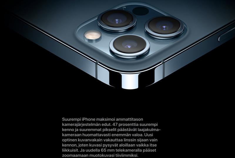 Merkittävimmät kameraparannukset ovat tapahtuneet vain iPhone 12 Pro Maxissa.