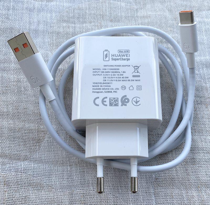 Uusi 66 watin Huawei SuperCharge -laturi toimii 11 voltin jännitteellä ja 6 ampeerin sähkövirralla.