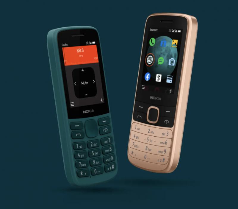 Nokia 215 4G ja Nokia 225 4G.