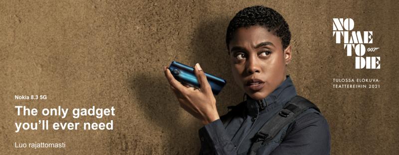 Nokia 8.3 5G oli mukana myös 007 No Time To Die -elokuvassa.