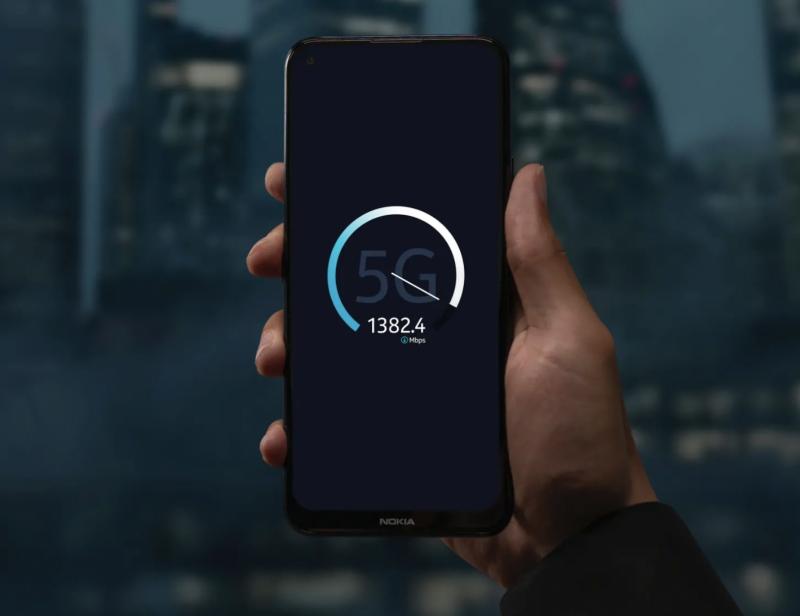 5G-verkot tarjoavat Nokia 8.3 5G:llä jopa gigabittiluokan tiedonsiirtonopeudet.