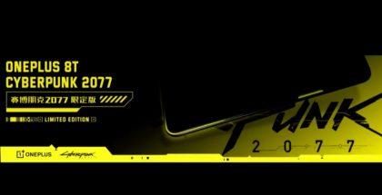 OnePlus 8T:n Cyberpunk 2077 -erikoisversion ennakkokuva.