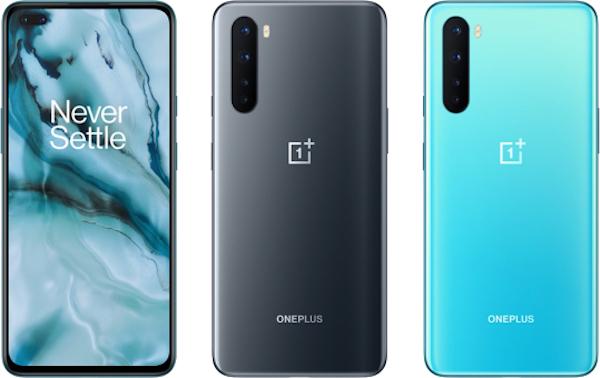 OnePlus Nordin alkuperäiset värit, Onyx Gray ja Blue Marble.