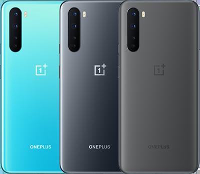 OnePlus Nordin värivaihtoehdot.