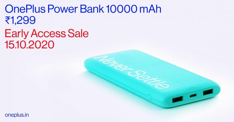 OnePlussan uusi Power Bank tarjoaa 10 000 milliampeeritunnin akun.