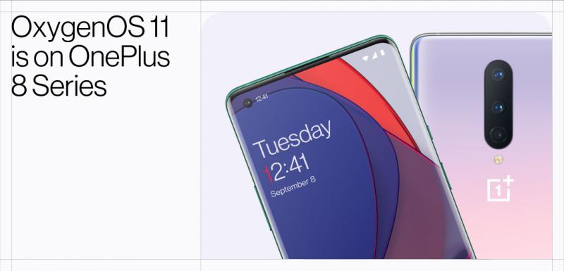 OxygenOS 11 tulee ensimmäisenä OnePlus 8 -sarjan älypuhelimiin.