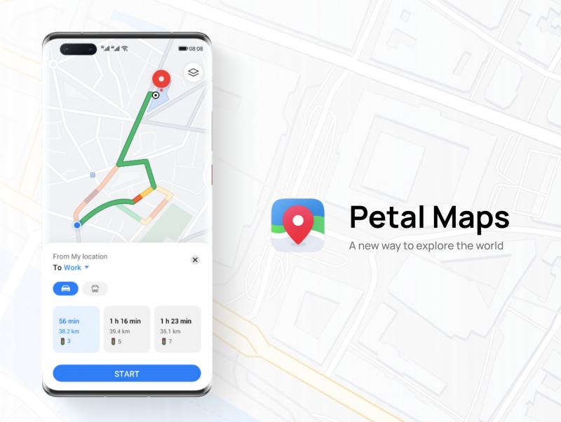 Petal Maps on Huawein uusi karttasovellus.