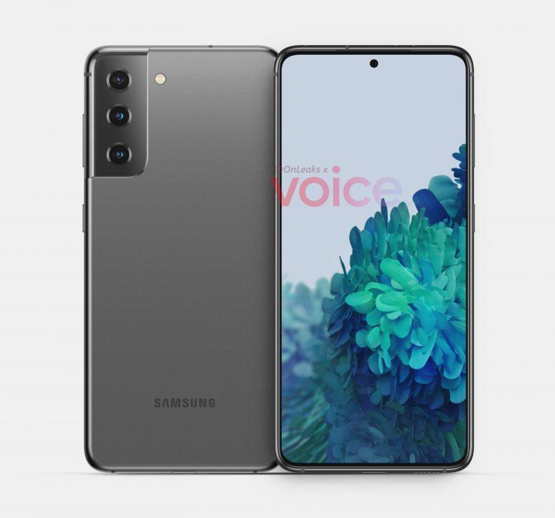 Samsung Galaxy S21 tai S30 -mallinnos. Kuva: OnLeaks / Voice.