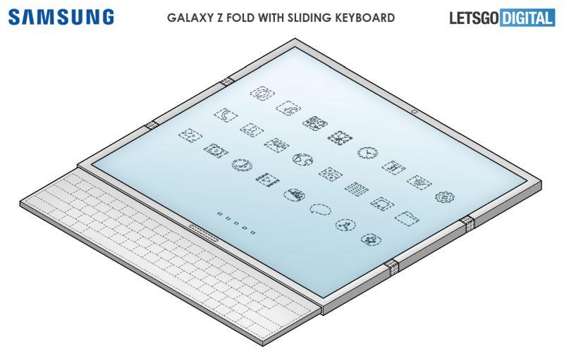 Samsungin mallisuojahakemus esittelee yllättävän designin taittuvanäyttöiseen älypuhelimeen.