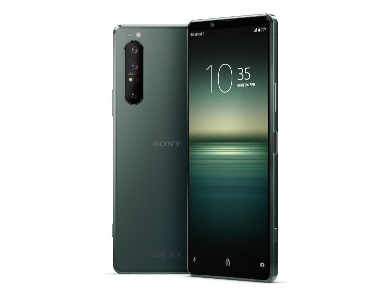 Sony Xperia 1 II, Mirror Lake Green.
