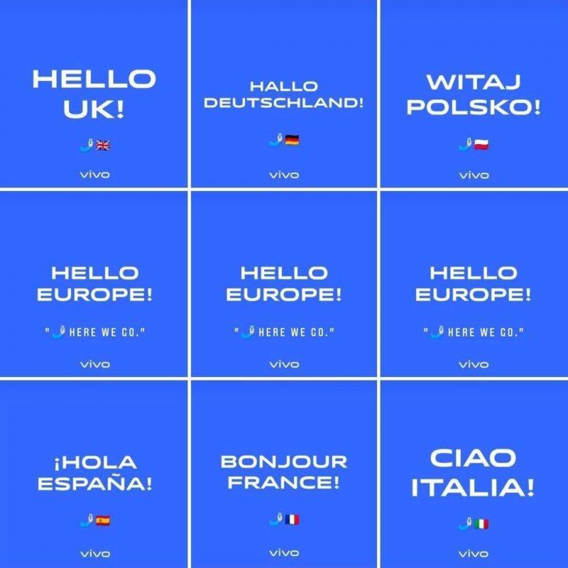 Vivo on lähtenyt mukaan suurten Euroopan maiden älypuhelinmarkkinoille.