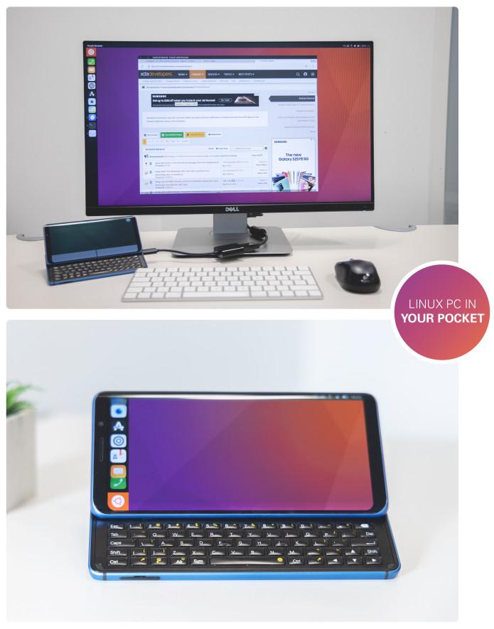 Pro1-X toimii Ubuntu Touch -laitteena.