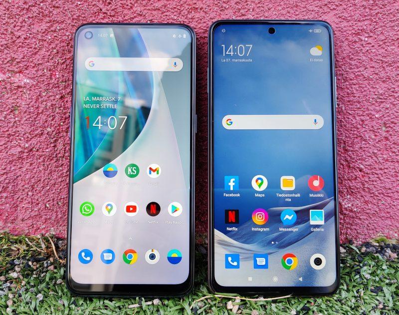 OnePlus Nord N10 5G ja Xiaomi Mi 10T Lite ovat 299 euron 5G-älypuhelimia.