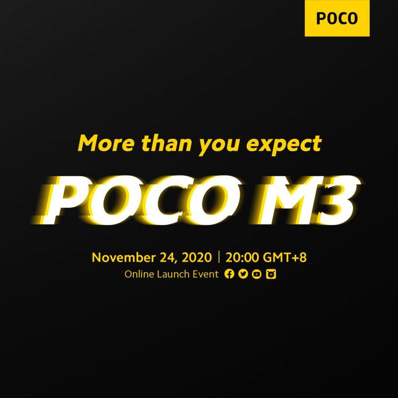 Poco M3 -älypuhelin tulossa.