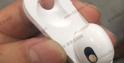 Kuvavuoto mahdollisista uusien AirPods-kuulokkeiden osista.