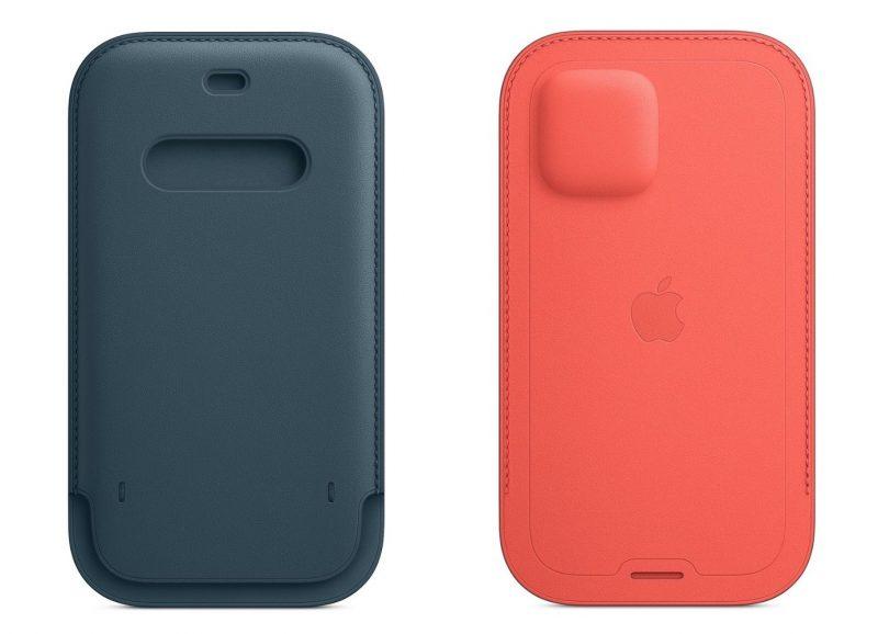 Nahkatasku on saatavilla neljässä eri värissä eri kokoisina versioina kaikille iPhone 12 -puhelimille.
