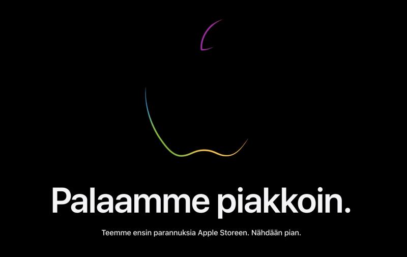 Applen verkkokauppa odottaa uutuuksia.