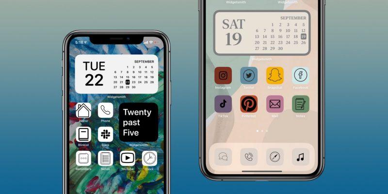 iOS 14:ssä on mahdollisuus vaihtaa sovelluskuvakkeita. iOS 14 -versio on tekemässä käytöstä saumattomampaa. Kuva: 9to5Mac.
