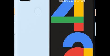 Google Pixel 4a, Barely Blue.