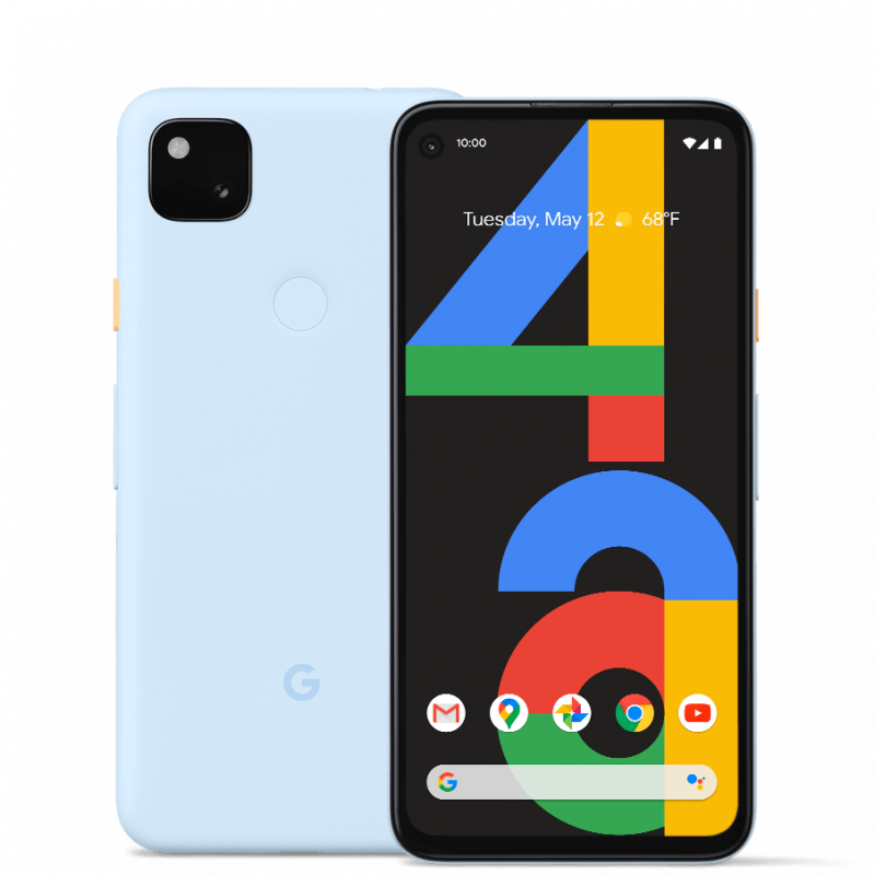 Google Pixel 4a, Barely Blue.