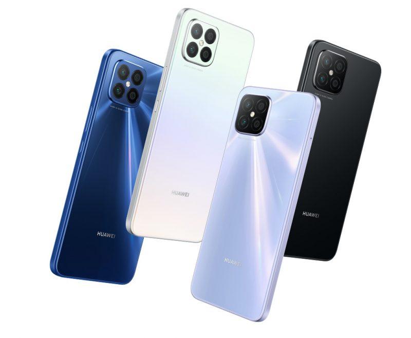 Huawei Nova 8 SE:n värivaihtoehdot.