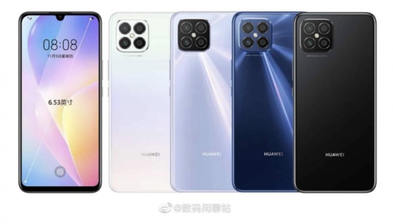 Huawei Nova 8 SE -värivaihtoehdoista vuotanut kuva.