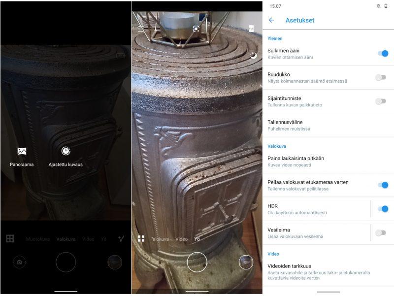 Kameran käyttöliittymä on tuttu muista Nokia-uutuuksista.