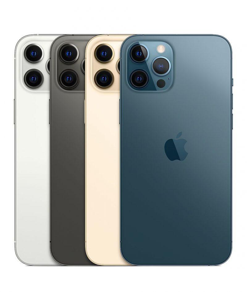 iPhone 12 Pro Maxin värivaihtoehdot.