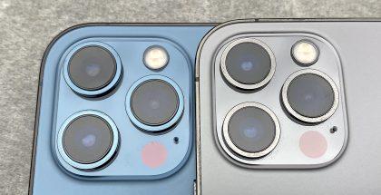 iPhone 12 Pro Maxissa on suuremmat kameralinssit kuin iPhone 12 Prossa.