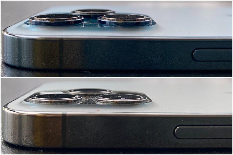 iPhone 12 Pro Maxin kamerat tulevat myös enemmän ulos pinnasta kuin iPhone 12 Pron.