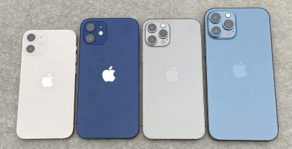 iPhone 12 mini, iPhone 12, iPhone 12 Pro ja iPhone 12 Pro Max.
