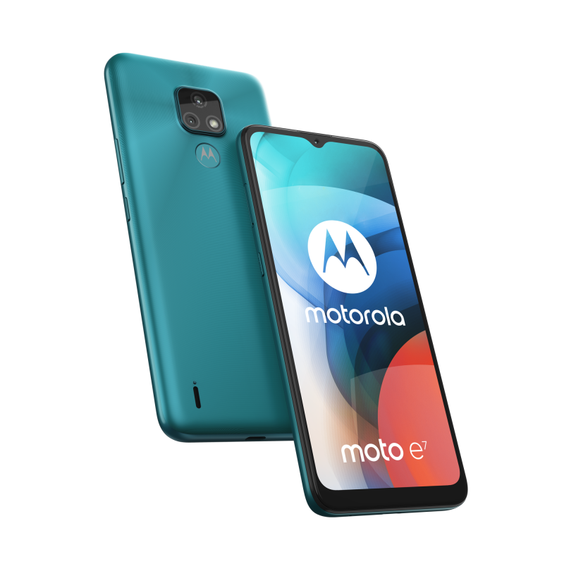 Motorola Moto E7, Aqua Blue.