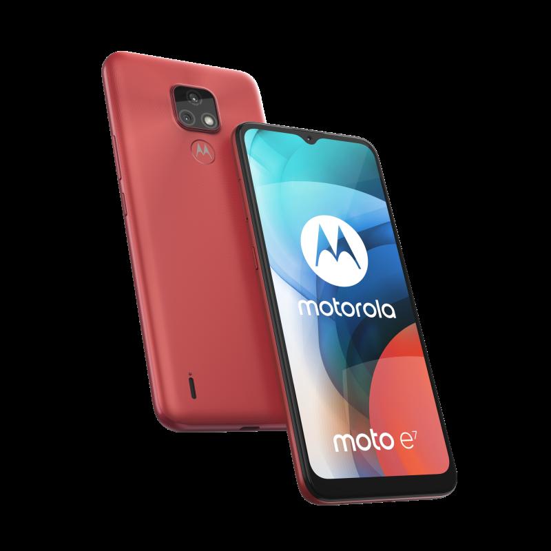 Motorola Moto E7, Satin Coral.