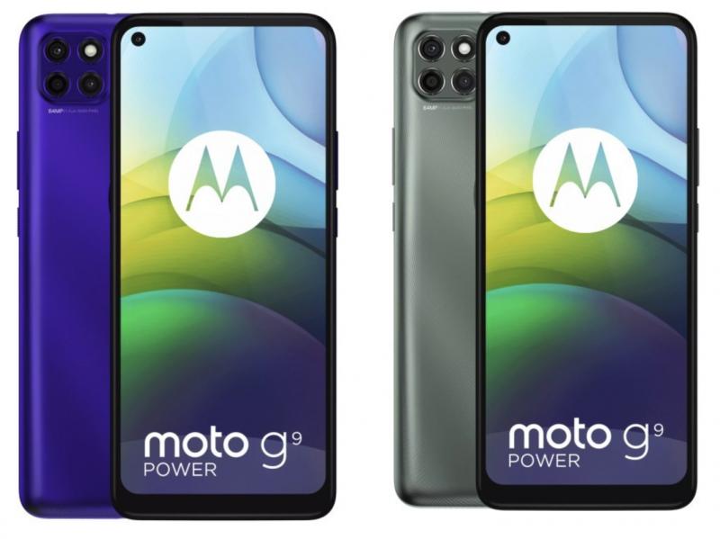 Moto G9 Powerin värivaihtoehdot.