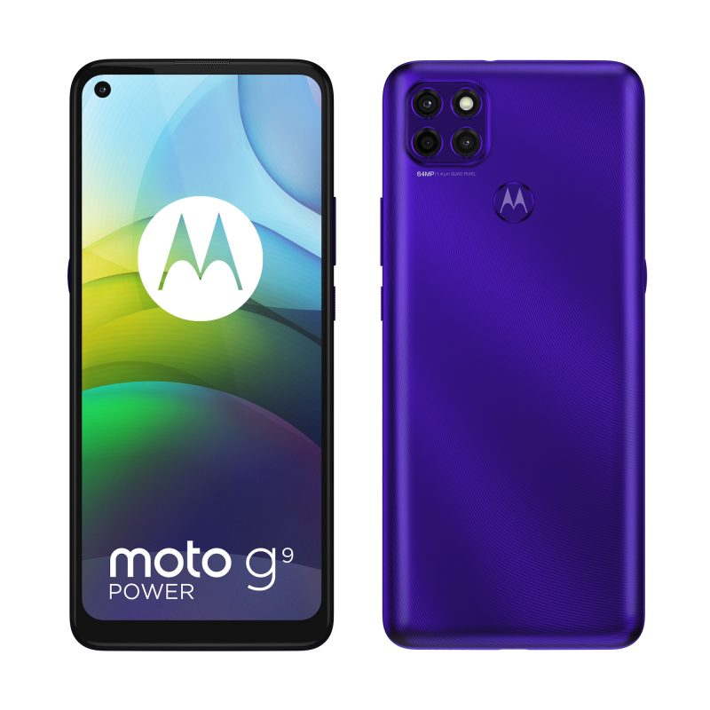 Moto G9 Power, Electric Violet.