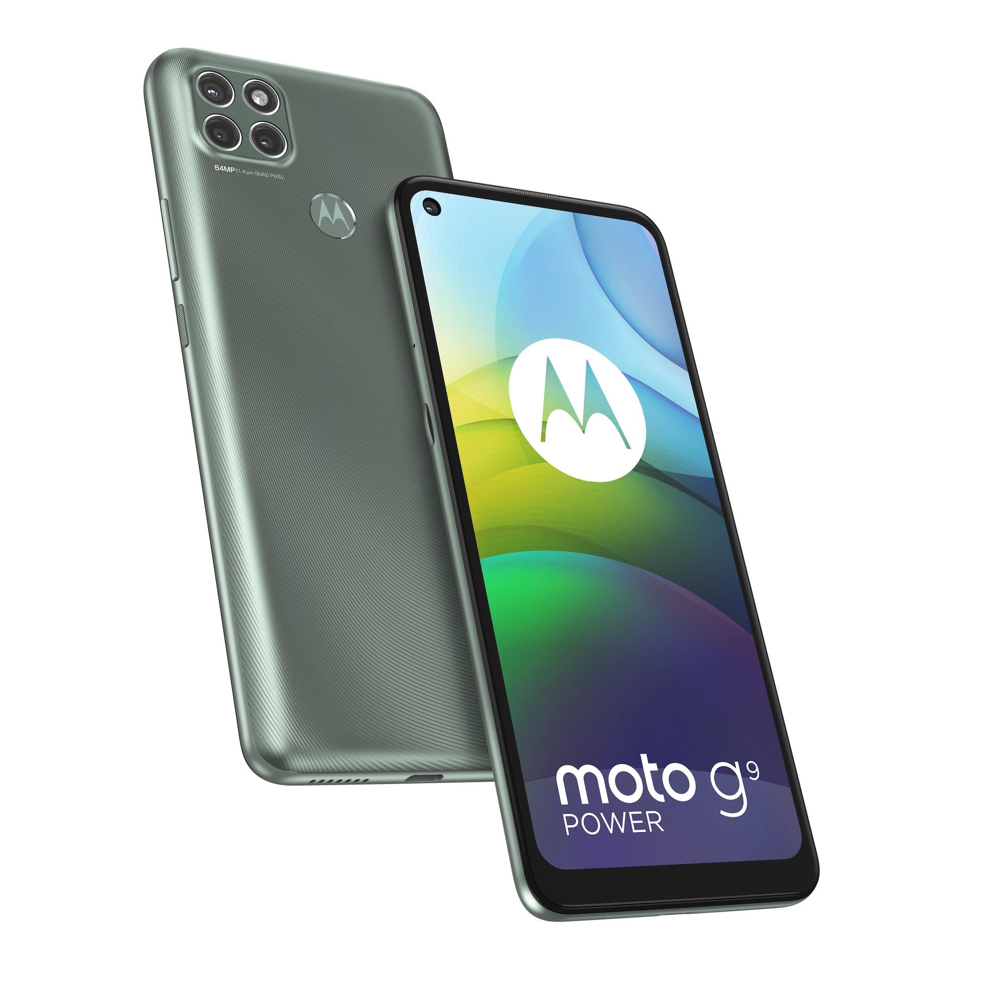 Moto G9 Power, Metallic Sage.