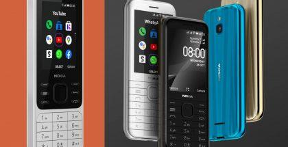 Nokia 6300 4G ja Nokia 8000 4G.